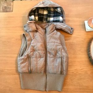 Free People cropped hooded puffer vest